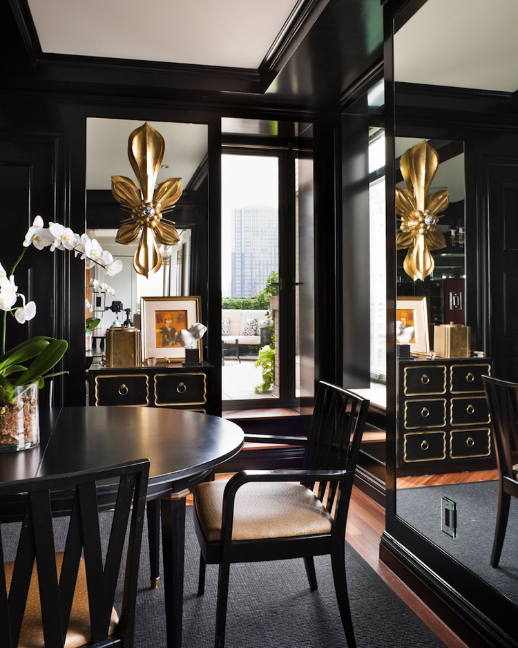 Dining in Black and Gold - Interiors By Color