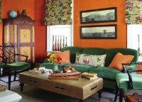 Orange And Green Living Room - [peenmedia.com]