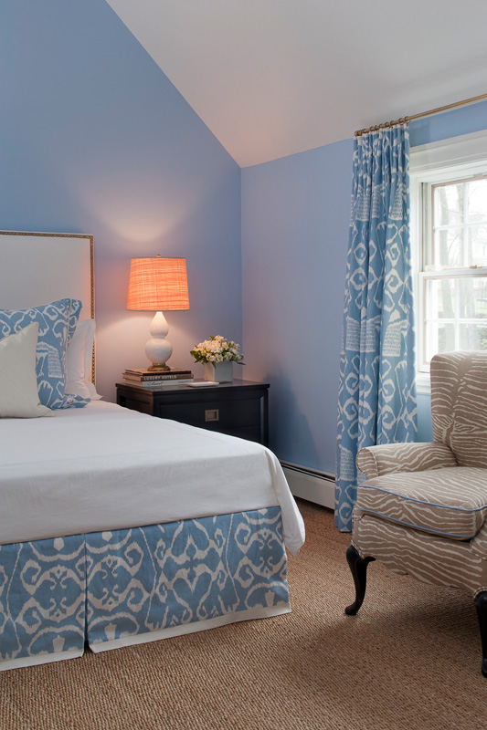 Ethnic Print In Light Blue Interiors By Color