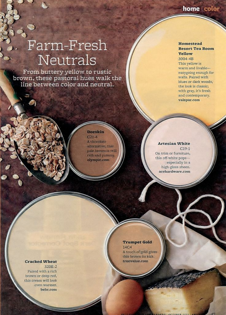 Paint Palette  FarmFresh Neuatral  Interiors By Color
