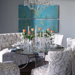 Blue And White Dining Chairs Avant Styling Chair Eclectic In Gray Turquoise - Interiors By Color