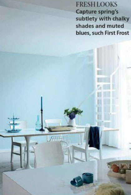 Paint Palette  Muted Light Blue  Interiors By Color