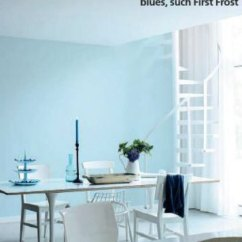 Paint Colors For Kitchen Walls Rta Cabinets Reviews Palette - Muted Light Blue Interiors By Color