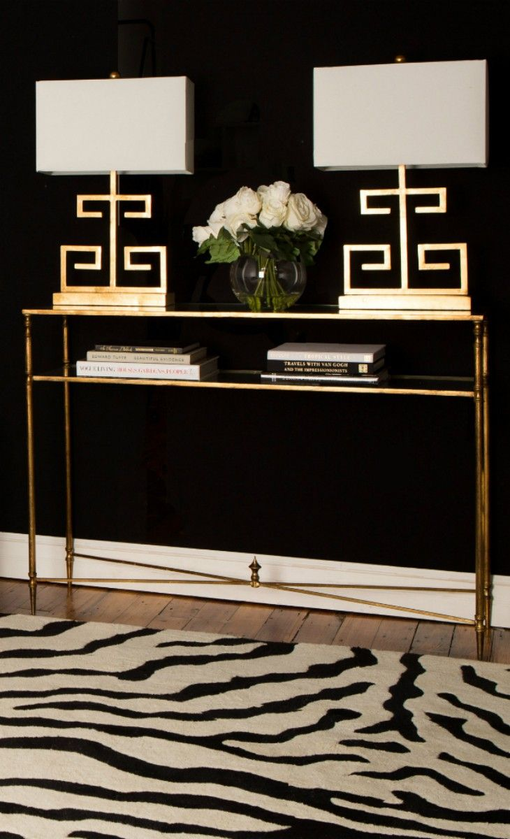 Gold Black And White Foyer Elegance Interiors By Color