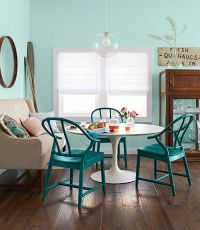 Teal Painted Dining Chair - Interiors By Color