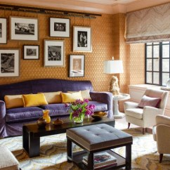 Purple Velvet Upholstered Sofa China Fabric Suppliers Orange - Interiors By Color (49 Interior Decorating Ideas)