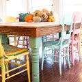 Colorful painted dining table manca info