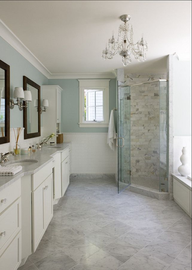 Light Blue And Marble Bathroom Interiors By Color