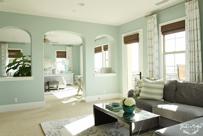 Palladian Blue Master Bedroom  Interiors By Color
