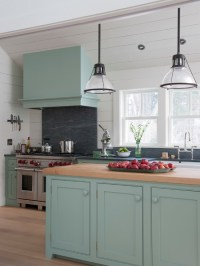 Blue Green Kitchen Cabinets - Interiors By Color