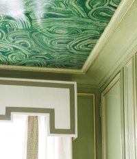 A Ceiling Full of Malachite - Interiors By Color