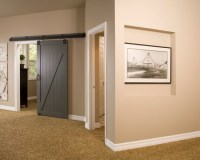 Sliding Barn door in Gray to the Bedroom - Interiors By Color