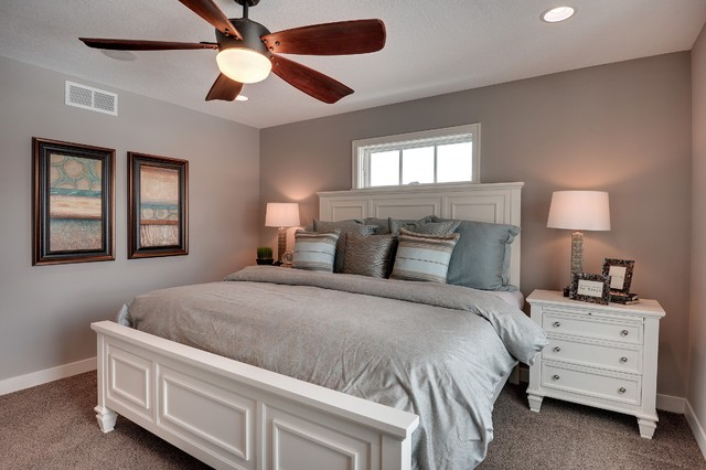 Sherwin Williams Requisite Gray Walls in the Bedroom  Interiors By Color