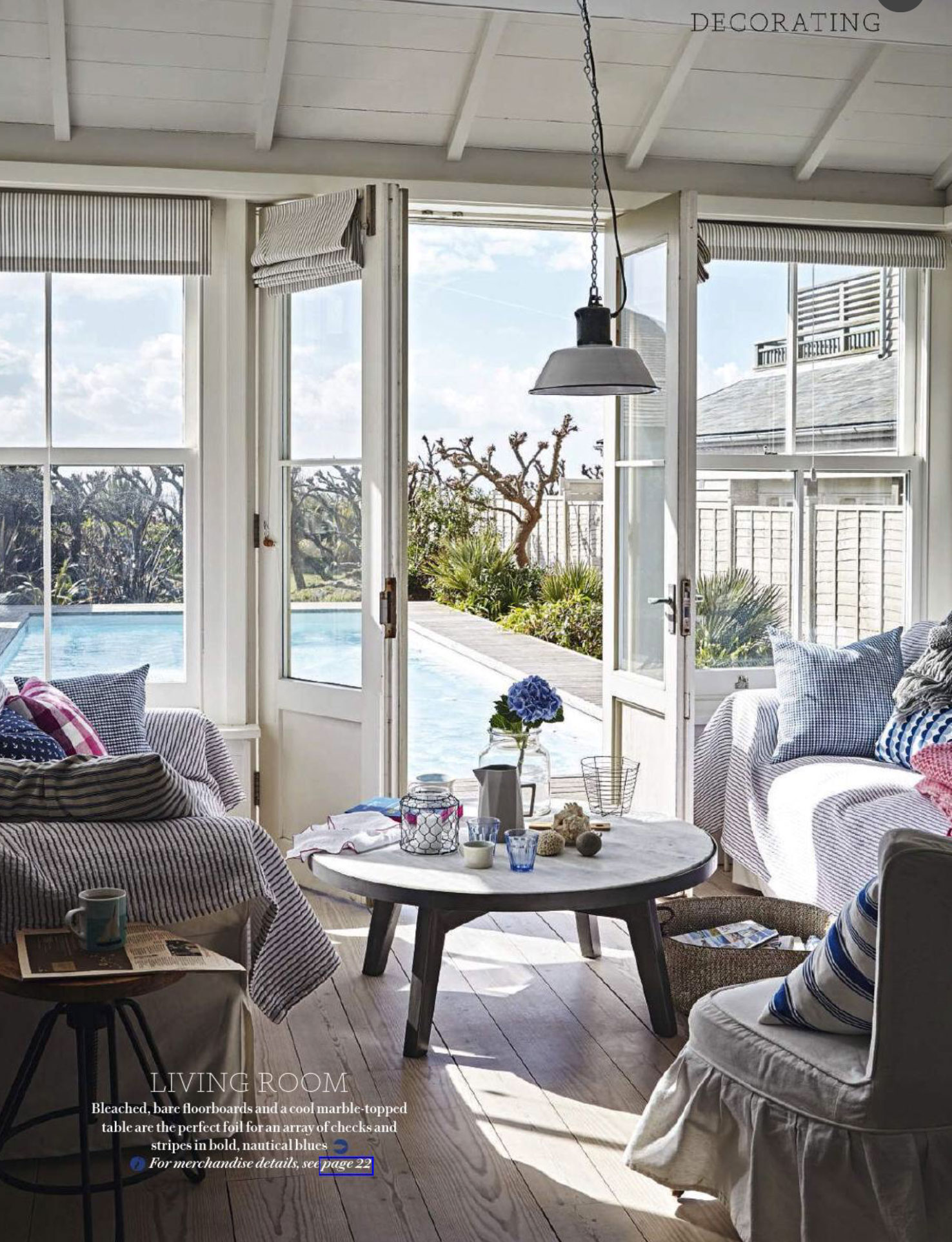 grey and yellow living room decorating ideas open shelving fresh coastal charm - interiors by color