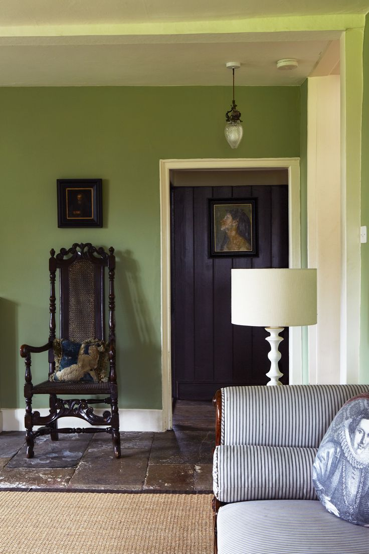 Calke Green Living Room  Interiors By Color