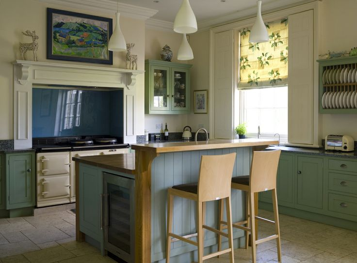 painted gray kitchen cabinets table for small space traditional in breakfast room green and dix blue ...