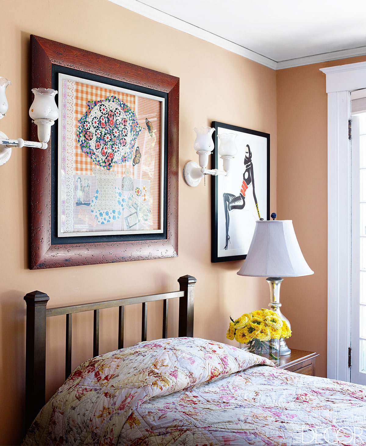 Bedroom Painted In Farrow Amp Balls Dutch Pink Interiors