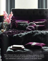 Rich Plum Shades - Interiors By Color
