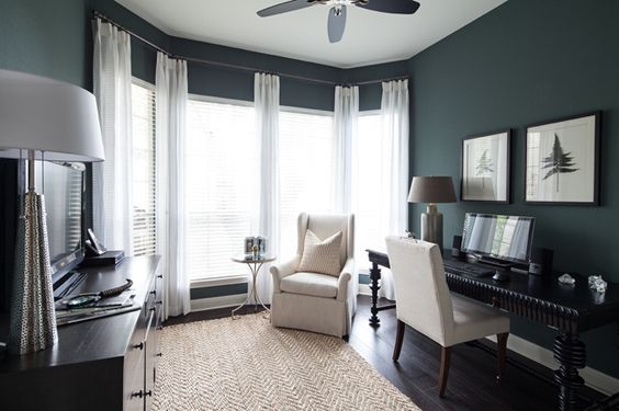 blue office chair white bar chairs benjamin moore knoxville gray - interiors by color