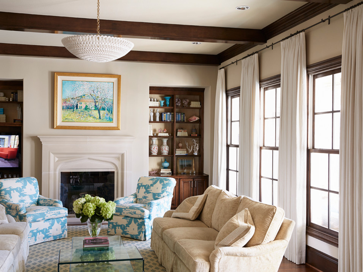 Fresh Traditional Styled Home with Turquoise Accents