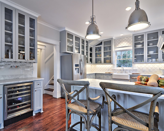 shaker kitchen island black appliance packages 12 beautiful gray cabinets - interiors by color