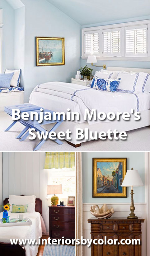 Benjamin Moores Sweet Bluette  Interiors By Color