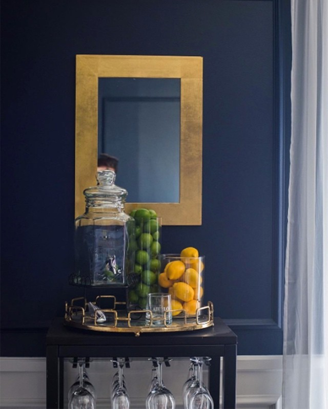 wall mirror living room best painting design for interiors painted in benjamin moore deep royal blue