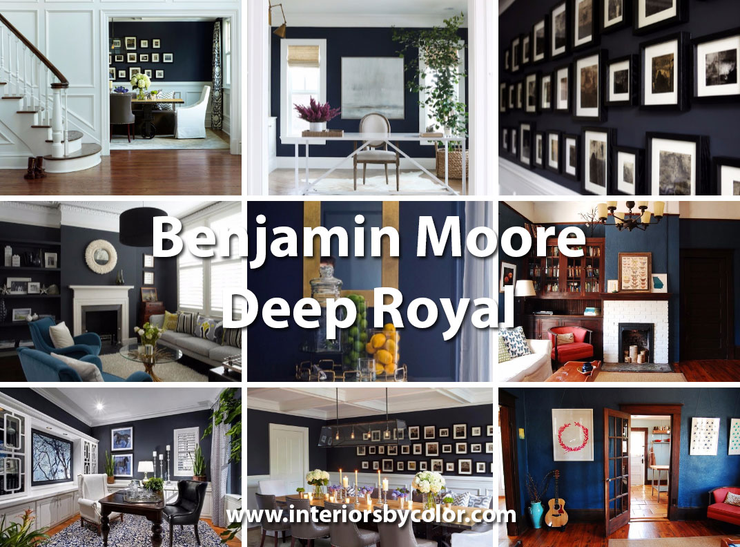 country home decorating ideas living room small apartment interiors painted in benjamin moore deep royal blue