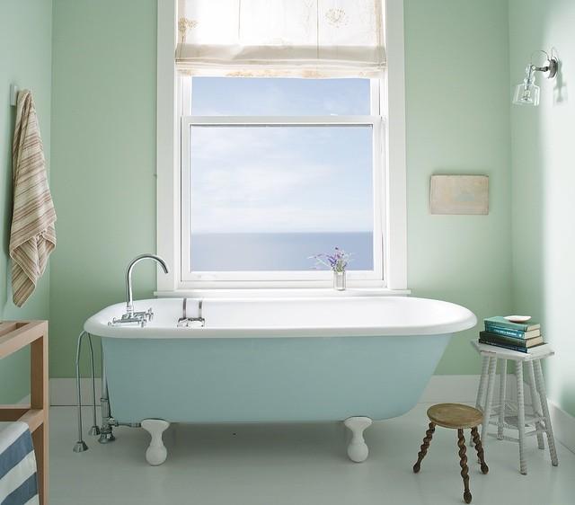 Pastel Bathroom in Palladian Blue  Breath of Fresh Air