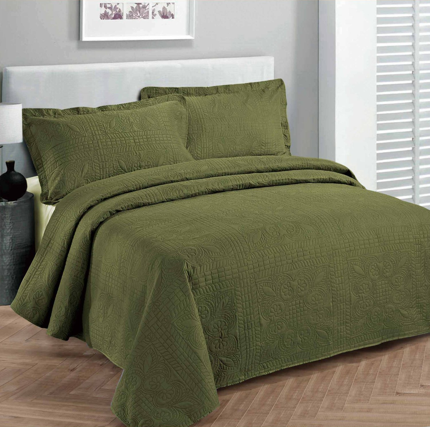 Top 5 Green Bedspreads Youll Love Interiors By Color