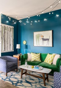 Cool Home in Turquoise with Green Accents - Interiors By Color