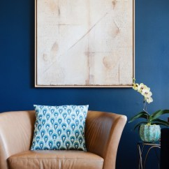 Rustic Leather Chair Gym Review 9 Interior Decor Living Rooms In Moody Blue - Interiors By Color