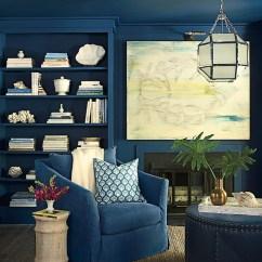 Dark Teal Sofa E Poltrona Para Sala Pequena 9 Interior Decor Living Rooms In Moody Blue - Interiors By ...