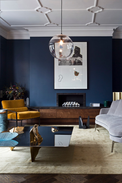 dark blue sofa table lack 9 interior decor living rooms in moody - interiors by ...