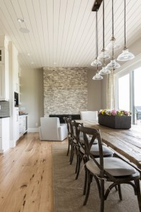 Dining Room Interior in Sherwin Williams Agreeable Gray ...