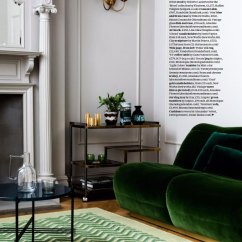 Modern Living Room Ideas Uk Paint For With Wood Trim Emerald Sofa Interior Design Trend 2017 - Interiors By Color