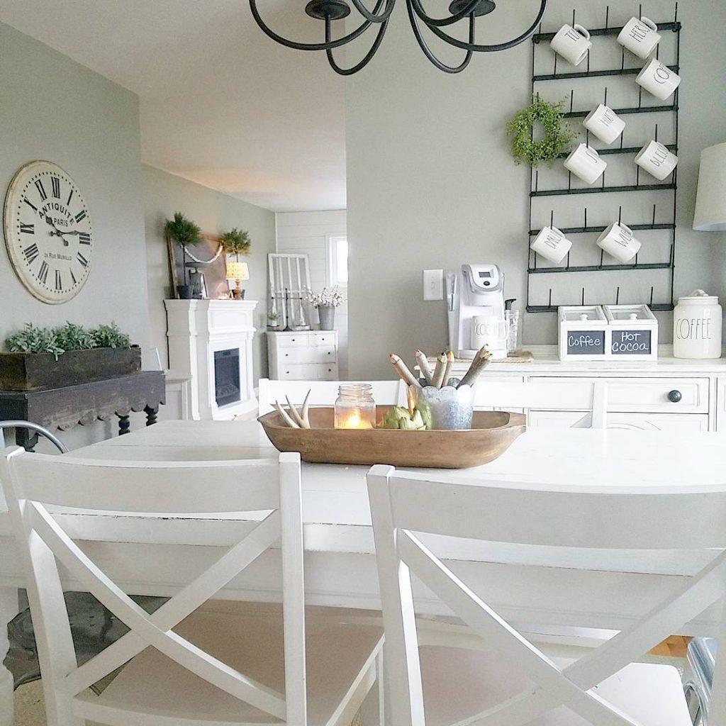 Dining Room Gray Walls