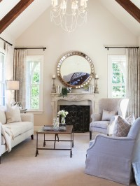 Traditional Living Room Painted in Elmira White by ...