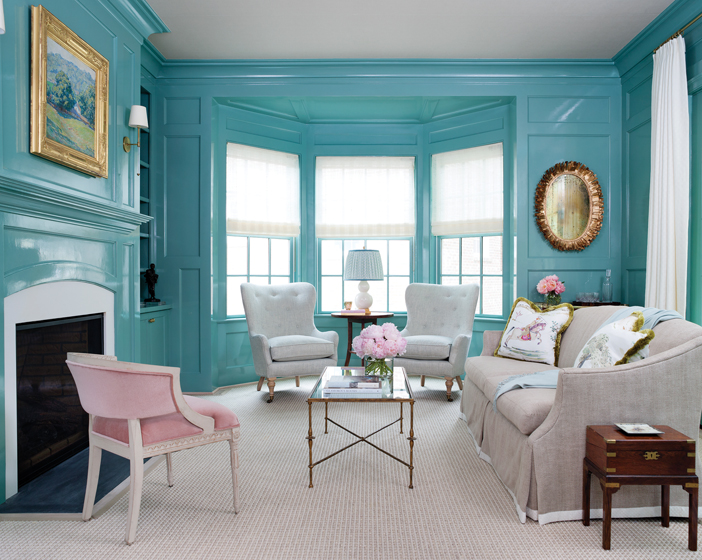 Benjamin Moores Mill Springs Blue Walls  Interiors By Color