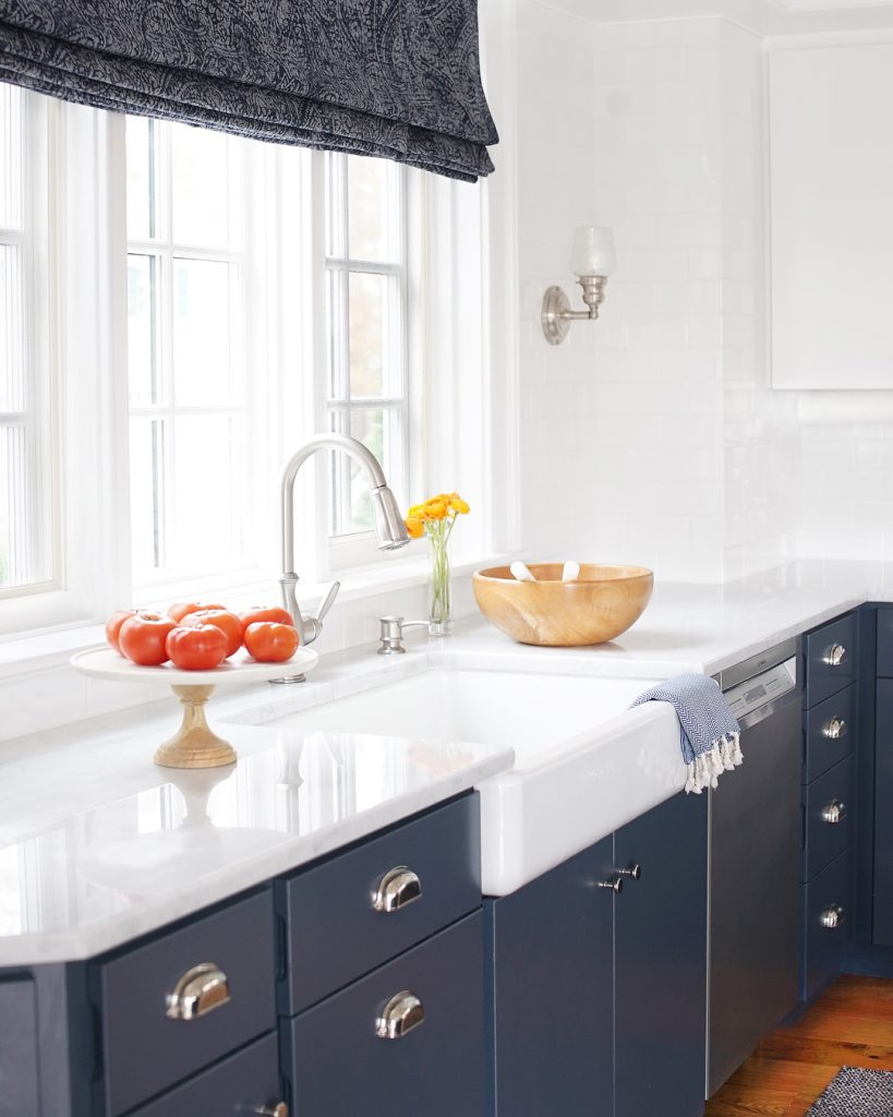 painted gray kitchen cabinets showrooms near me benjamin moore hale navy paint color ideas - interiors by ...