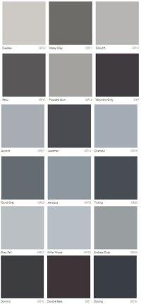 Grey Colour Charts Dulux Australia - Interiors By Color