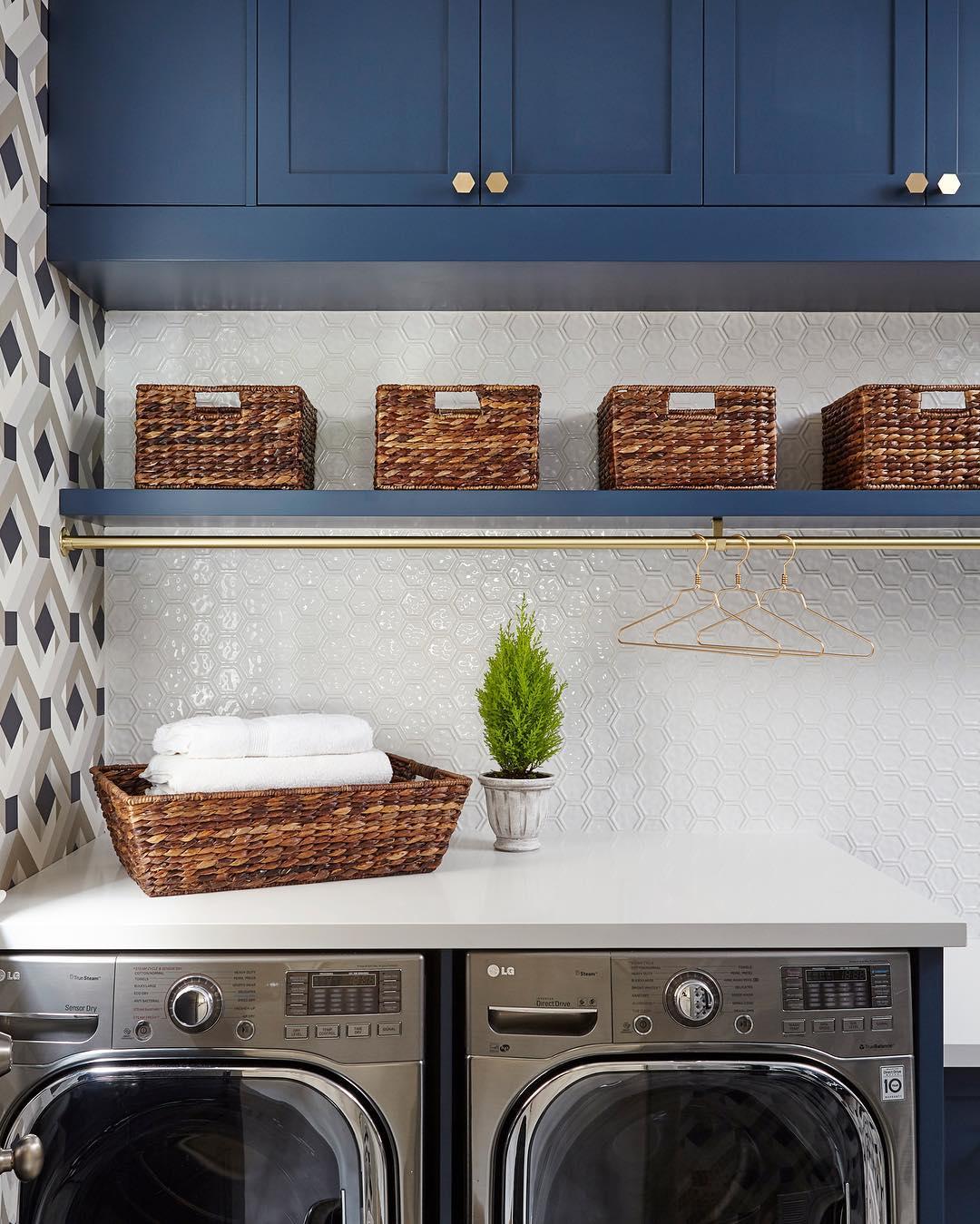 Benjamin Moore Gentlemans Gray Laundry  Interiors By Color