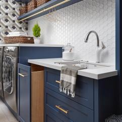 Painted Kitchen Cabinets Small Island With Seating Benjamin Moore Gentleman's Gray Laundry - Interiors By Color