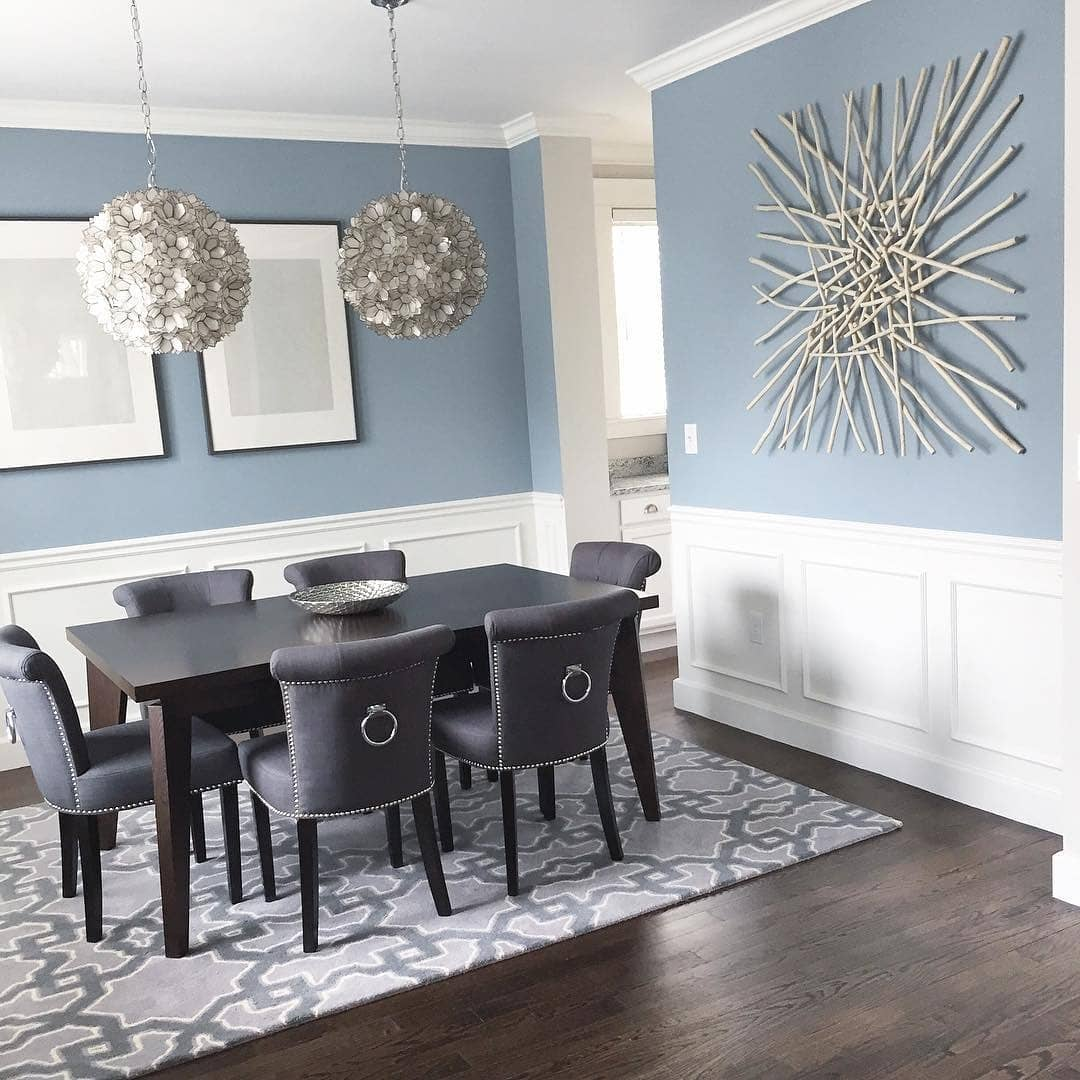 Benjamin Moore Nimbus Grey Dining Room  Interiors By Color