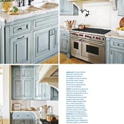 Cream Colored Kitchen Cabinets Wood Floors French Country In Blue Color Scheme - Interiors By ...