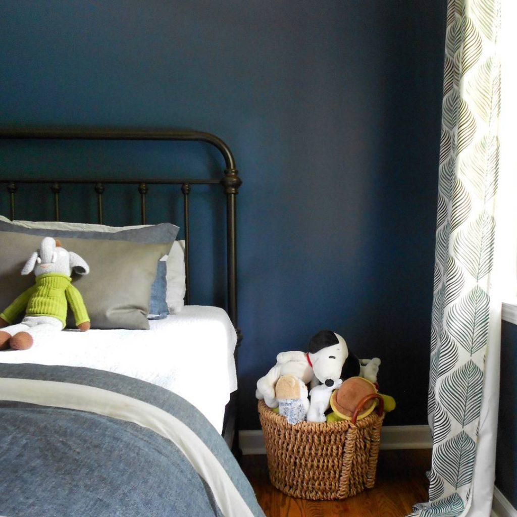 Benjamin Moore Van Deusen Blue  Navy Paint Color Schemes to Love  Interiors By Color