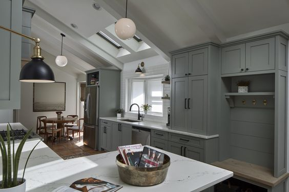 charcoal kitchen cabinets commercial sink faucet farrow & ball pigeon - interiors by color