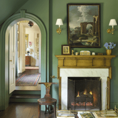 Living Room And Kitchen Paint Colors Traditional Curtains Benjamin Moore Cushing Green Color Schemes ...
