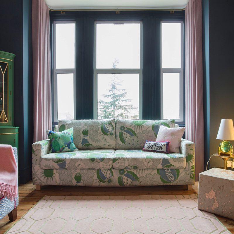 Farrow  Ball Hague Blue Living Room  Interiors By Color