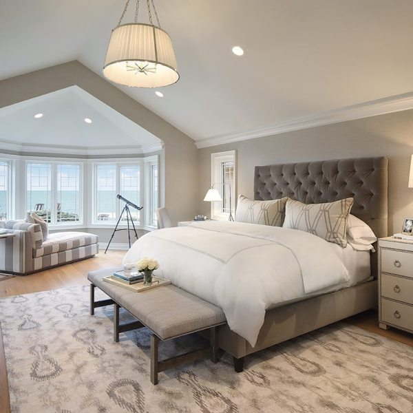 monochromatic color scheme bedroom gray walls - Interiors By Color (73 interior decorating ideas)